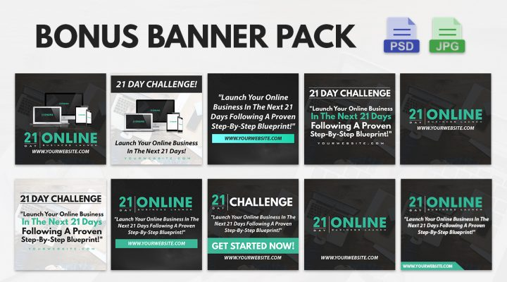 Brand New Bonus Social Media Package (21 Day Launch PLR)