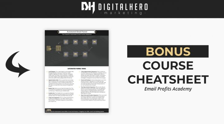 Free Bonus – Email Profits Academy Course Cheat Sheet